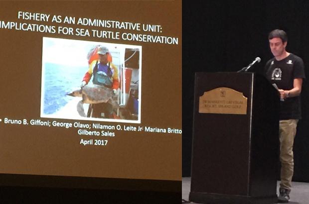 TAMAR participou de simpósio de biologia e conservação das tartarugas marinhas
