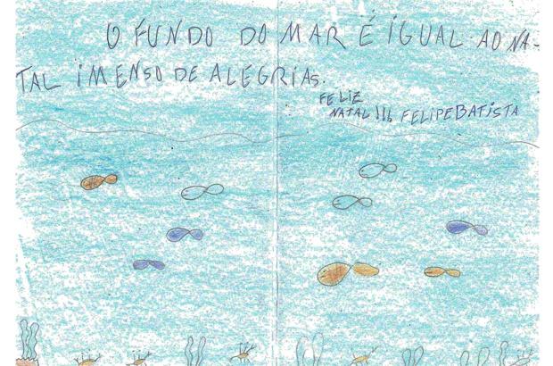 Cartões de fim de ano inspirados nas tartarugas e no mar