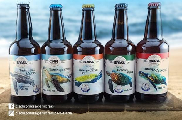 Cinco tipos de cerveja artesanal homenageiam as espécies de tartarugas marinhas do Brasil
