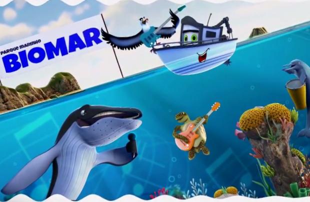 Rede Biomar lança animação infantil com personagens das espécies ameaçadas