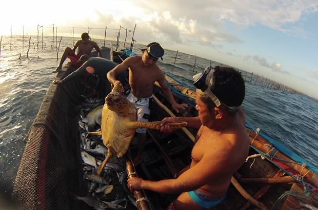 Tamar faz levantamento das artes de pesca do Cear�