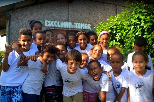 Escolinha do Tamar em Arembepe é selecionada para participar do Criança Esperança